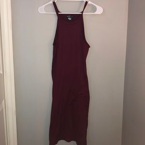 Burgundy Body Con Dress